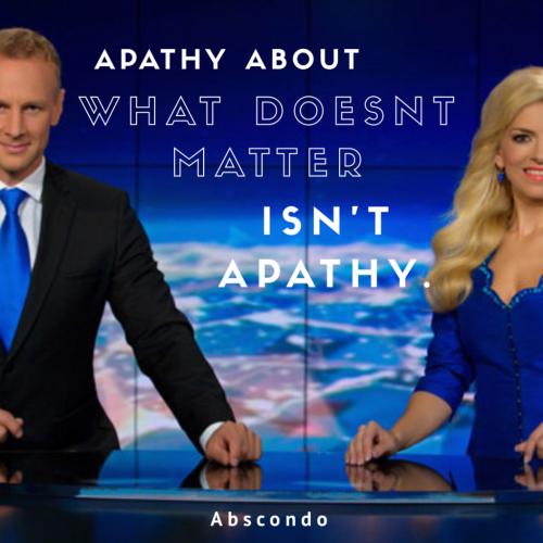 Isnt apathy.